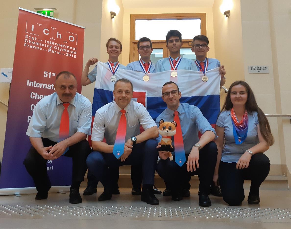 Delegácia SK na IChO 2019
