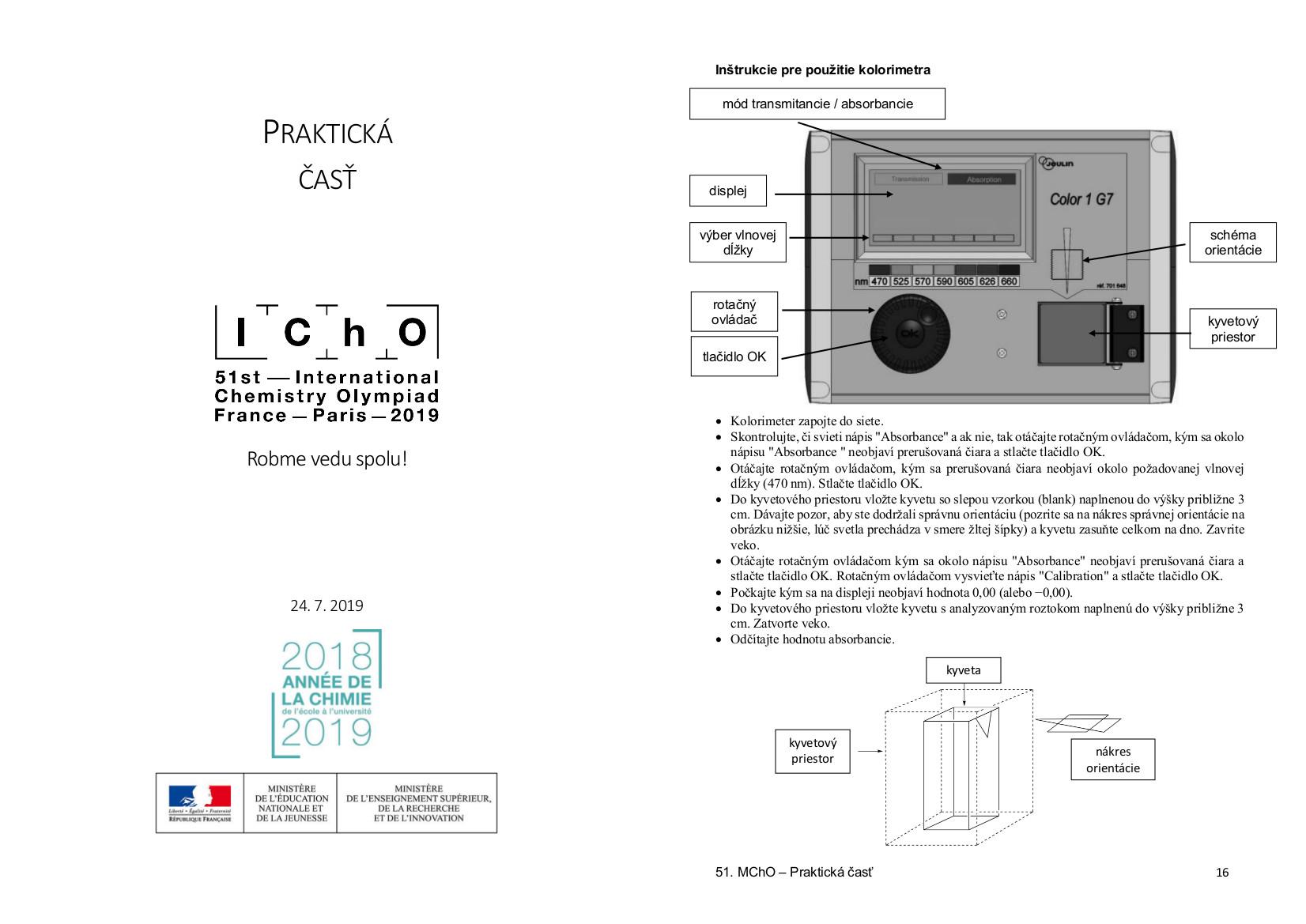 Ilustračný obrázok - zadanie praktickej časti 51. IChO