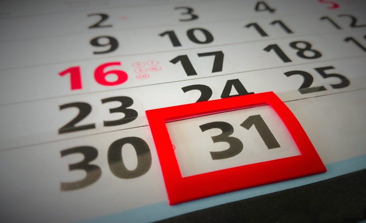 Ilustračný obrázok kalendára