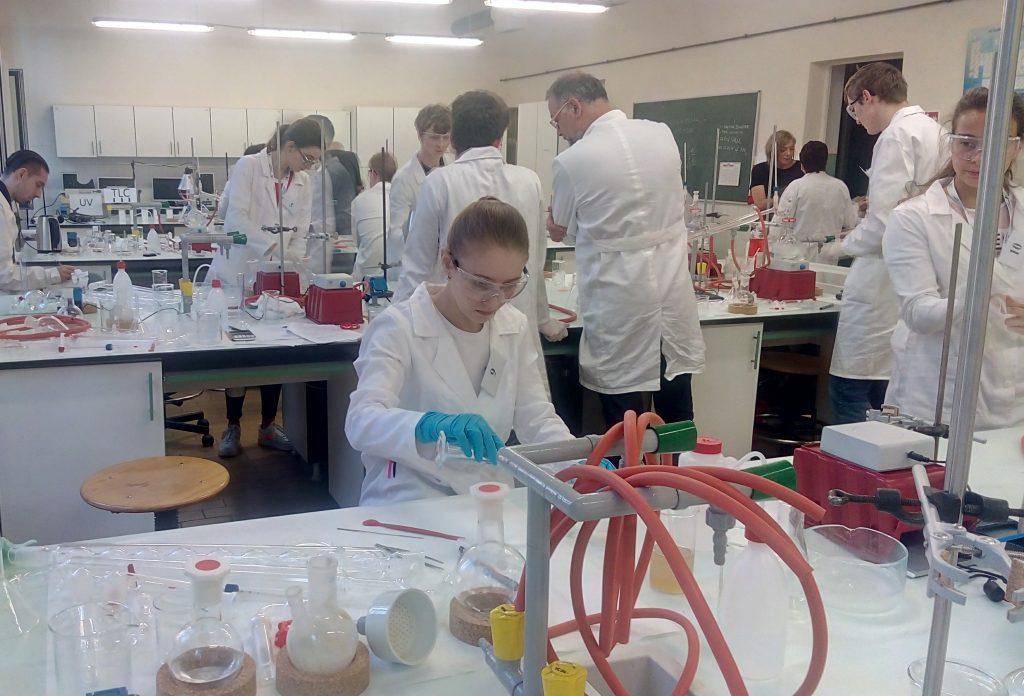 Nikola Králiková v laboratóriu GPCh 2019