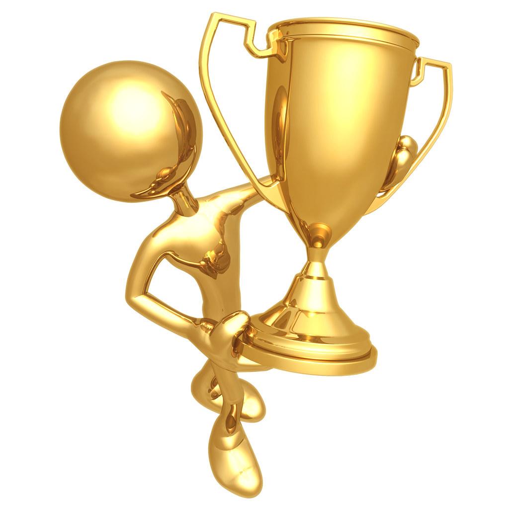 Zlatý panáčik s trofejou