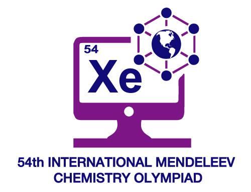 Logo 54. Medzinárodnej Mendelejevskej chemickej olympiády
