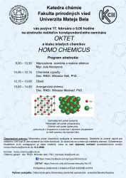Pozvánka na Seminár Homo Chemicus