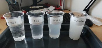 foto - výsledok analýzy tvrdosti vôd - priamo z domu jedného z mladých chemikov